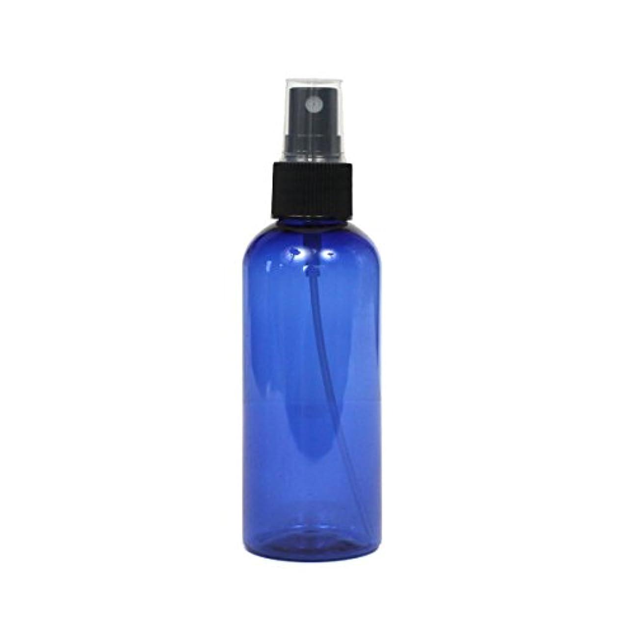 去る消費するフラフープスプレーボトル 100mL ブルー黒ヘッド1本遮光性青色 おしゃれ プラスチック空容器bu100bk1