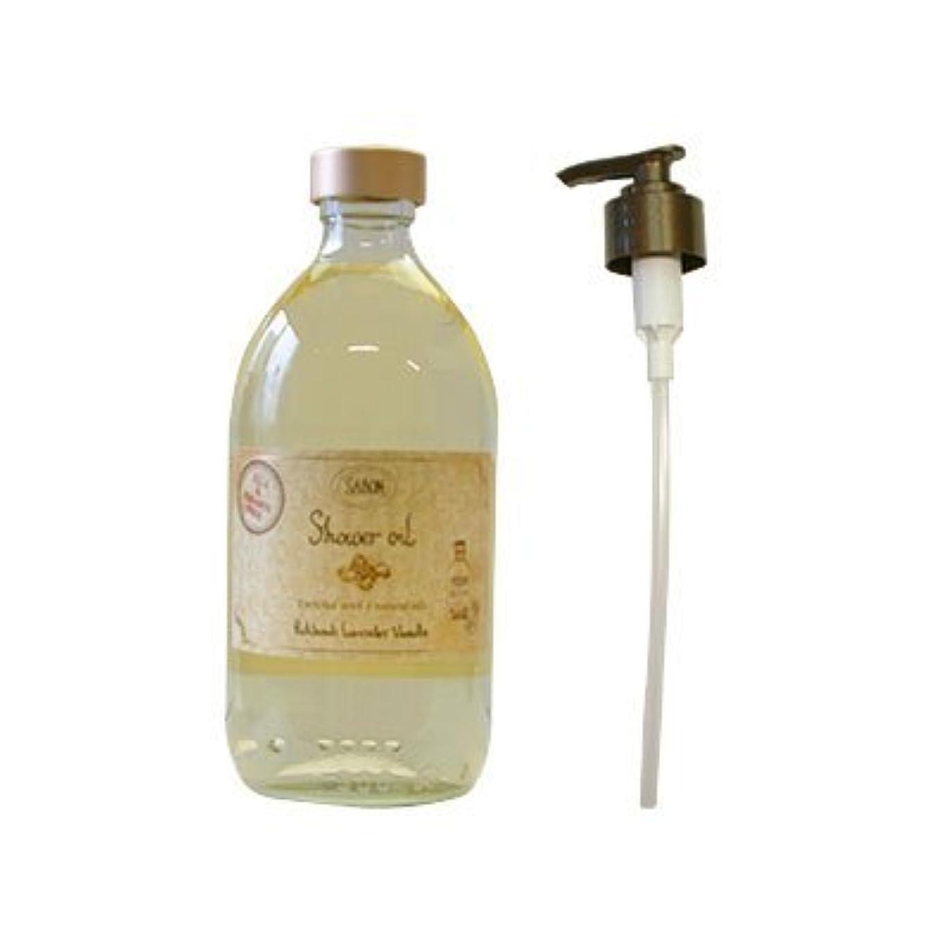 論争ロビーエレメンタルサボン(SABON) シャワーオイル パチュリラベンダーバニラ 500ml[並行輸入品]