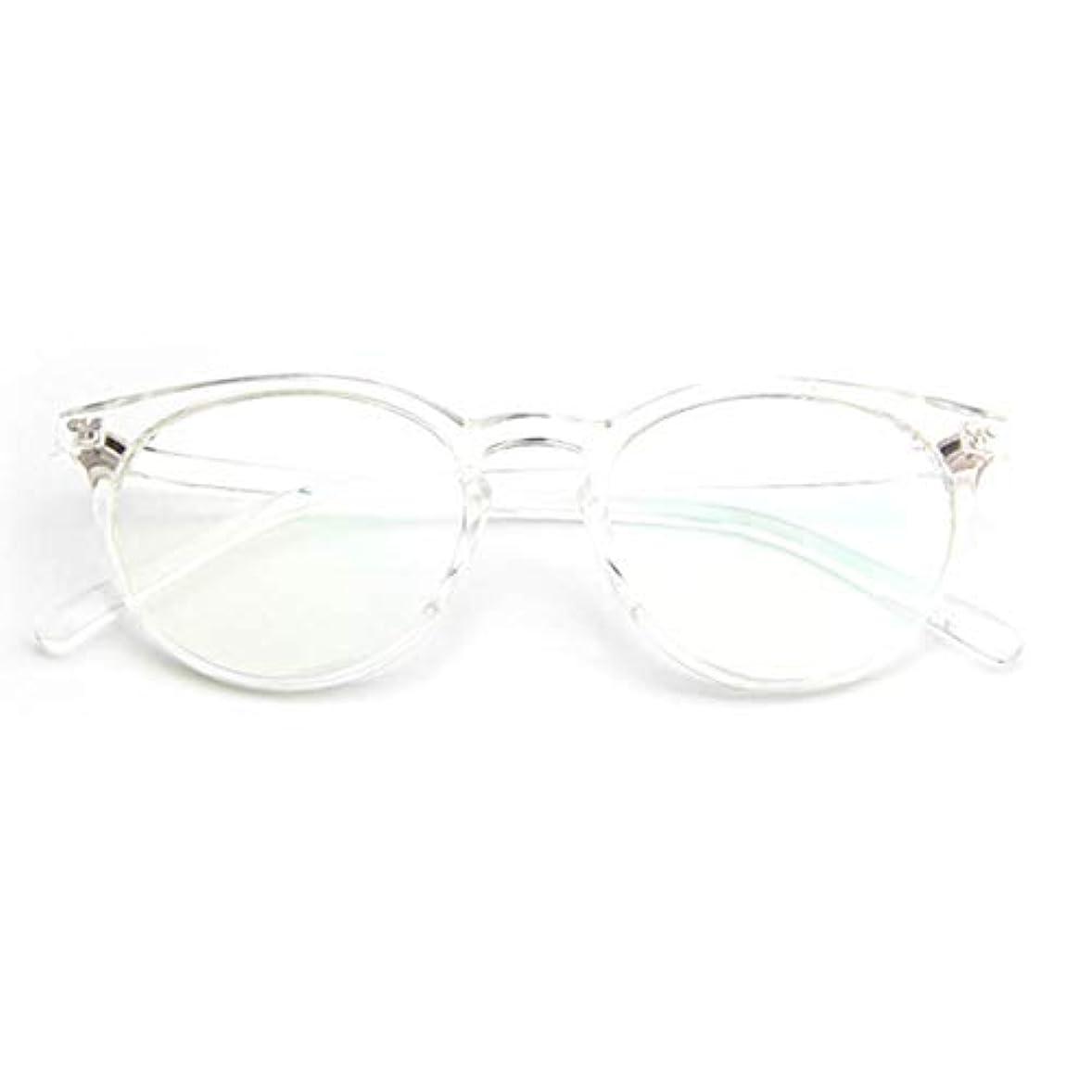 乱気流ほこり石油小さな新鮮な米ネイルフレームレンズレトロ古風な円形フレームファッションフレーム男性用近視眼鏡女性-透明な白
