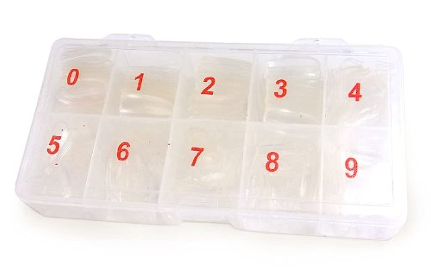 デッドロック腸罰【透明】ネイルチップ500枚☆オーバルタイプ【クリアカラー】ケース入