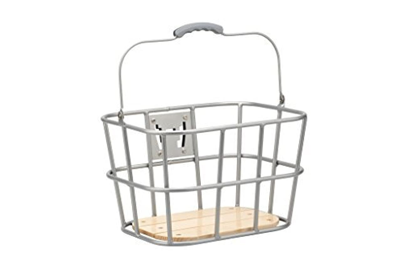 チャレンジハウジング生産的Pure City Front Quick Release Wire Basket with Wood Base [並行輸入品]
