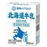 雪印メグミルク 北海道牛乳 200ml紙パック×24本入