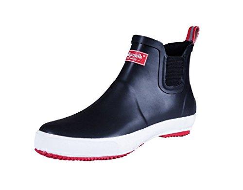 ショートレインブーツ 雨靴 防水 ブラック メンズ レディー...