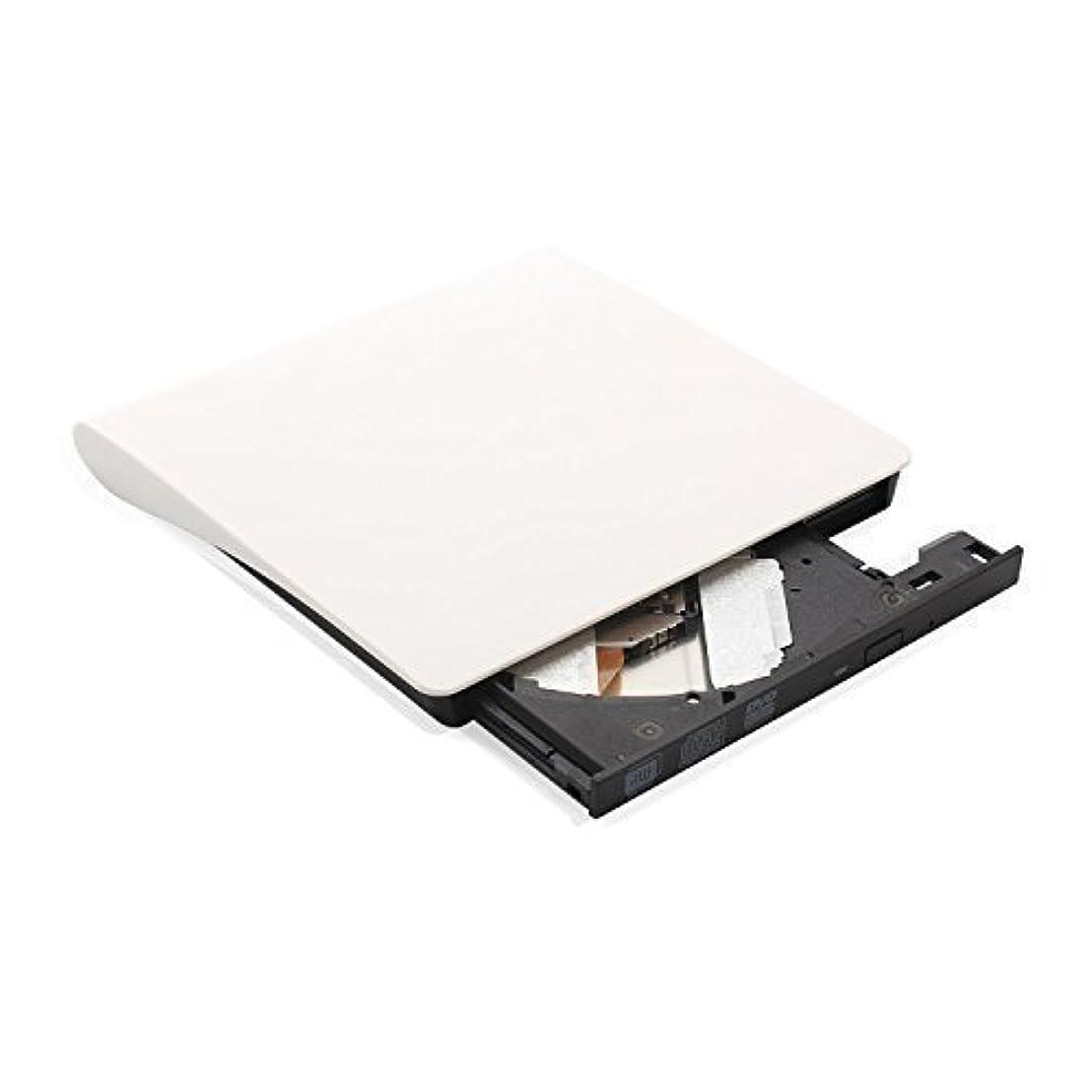 ポジションレキシコン絡まるLiegan-外部ドライブ、usb 3 .0スリムポータブルcd / dvd−rwコンボバーナーライタープレーヤーの光学ドライブのリンゴ macbook、macbook空気、ラップトップのために、デスクトップ(ホワイト) 白