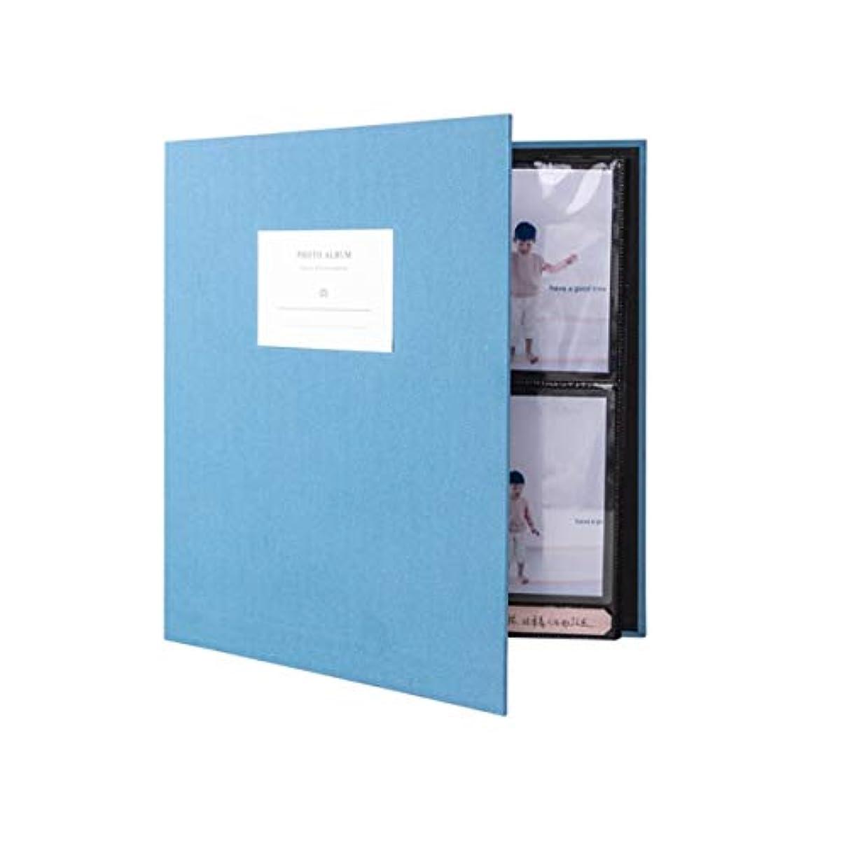 岸発表香水ZYZRYP ファミリーフォトアルバム、間質マーキングアルバム320 5インチの旅行アルバム (Color : Blue, Size : 35*37.3*6.2cm)