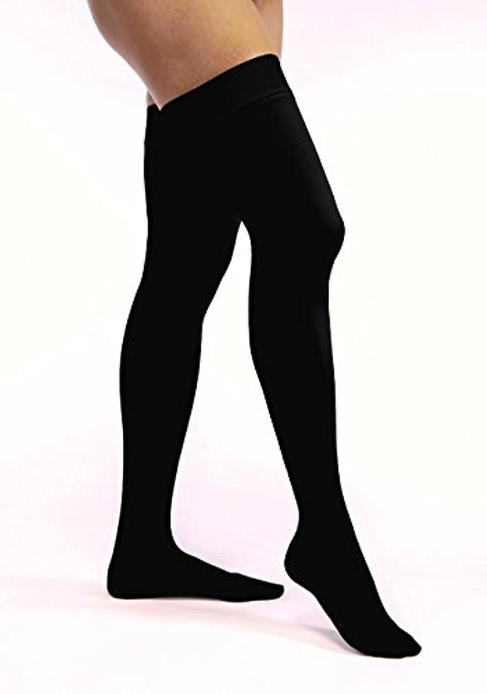 過去スライス受け入れたJobst 115182 Opaque Closed Toe Thigh High 30-40 mmHg Extra Firm Support Stockings - Size & Color- Classic Black...