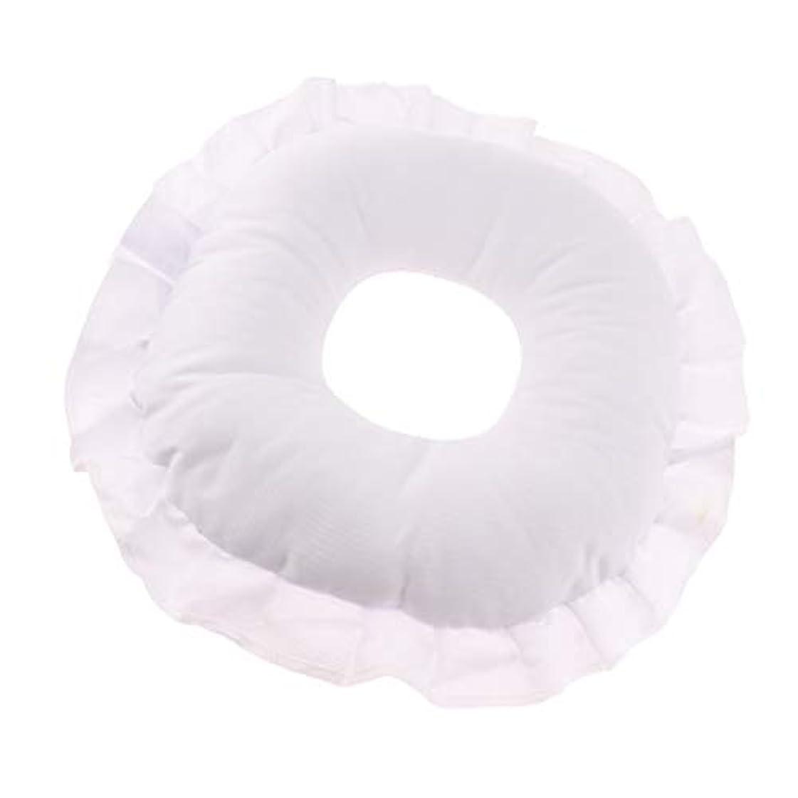 不明瞭ショッピングセンター補うフェイスピロー 顔枕 マッサージ枕 フェイスクッション ソフト 洗えるカバー 全3色 - 白