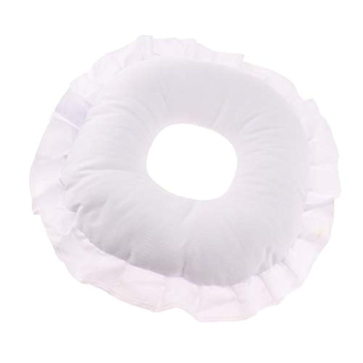 犯罪広い不正直D DOLITY フェイスピロー 顔枕 マッサージ枕 フェイスクッション ソフト 洗えるカバー 全3色 - 白