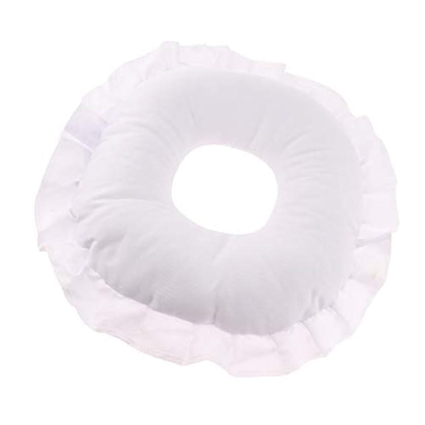 やさしい沈黙矛盾するフェイスピロー 顔枕 マッサージ枕 フェイスクッション ソフト 洗えるカバー 全3色 - 白