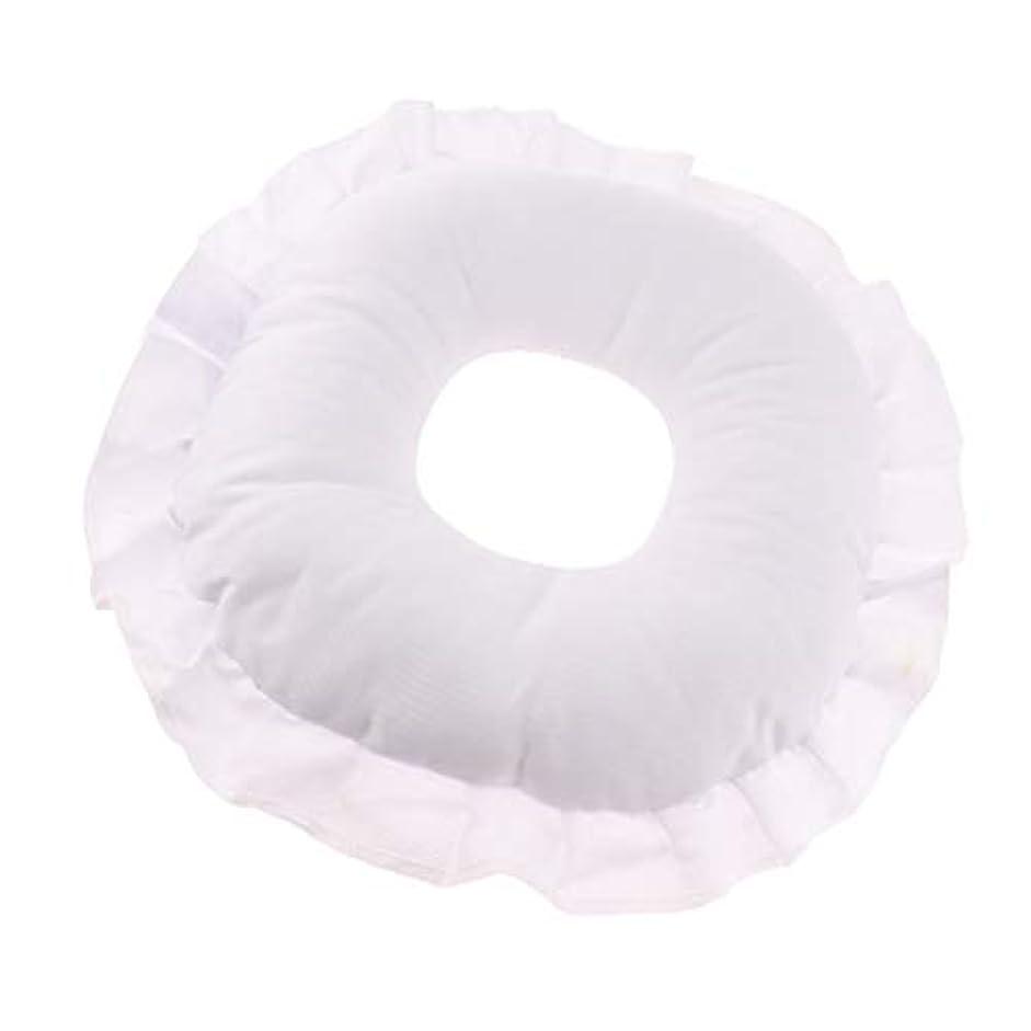 感性弁護士南D DOLITY フェイスピロー 顔枕 マッサージ枕 フェイスクッション ソフト 洗えるカバー 全3色 - 白