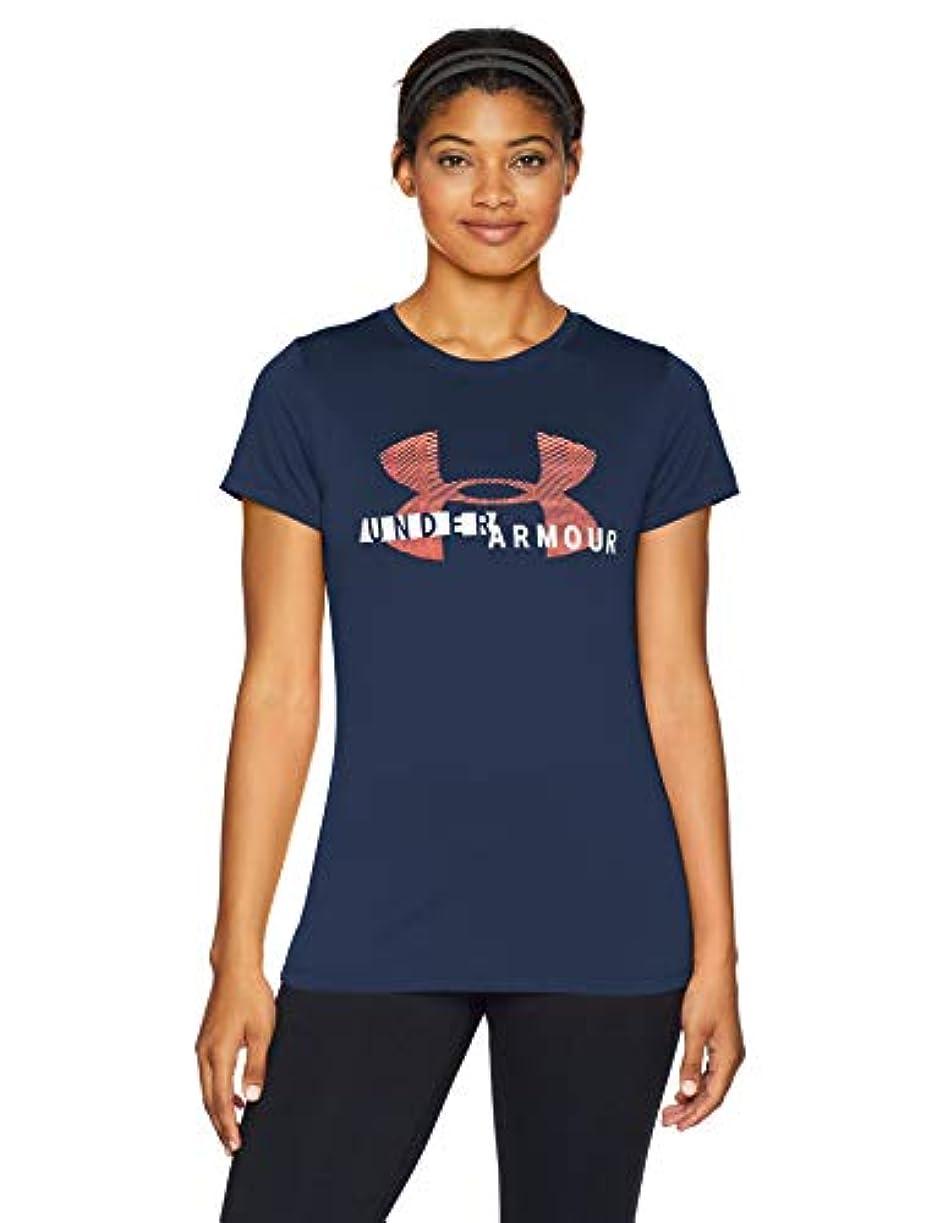 十分昼間何十人も[アンダーアーマー] テックショートスリーブグラフィックチャージドコットンTシャツ(トレーニング/Tシャツ) 1318143 レディース