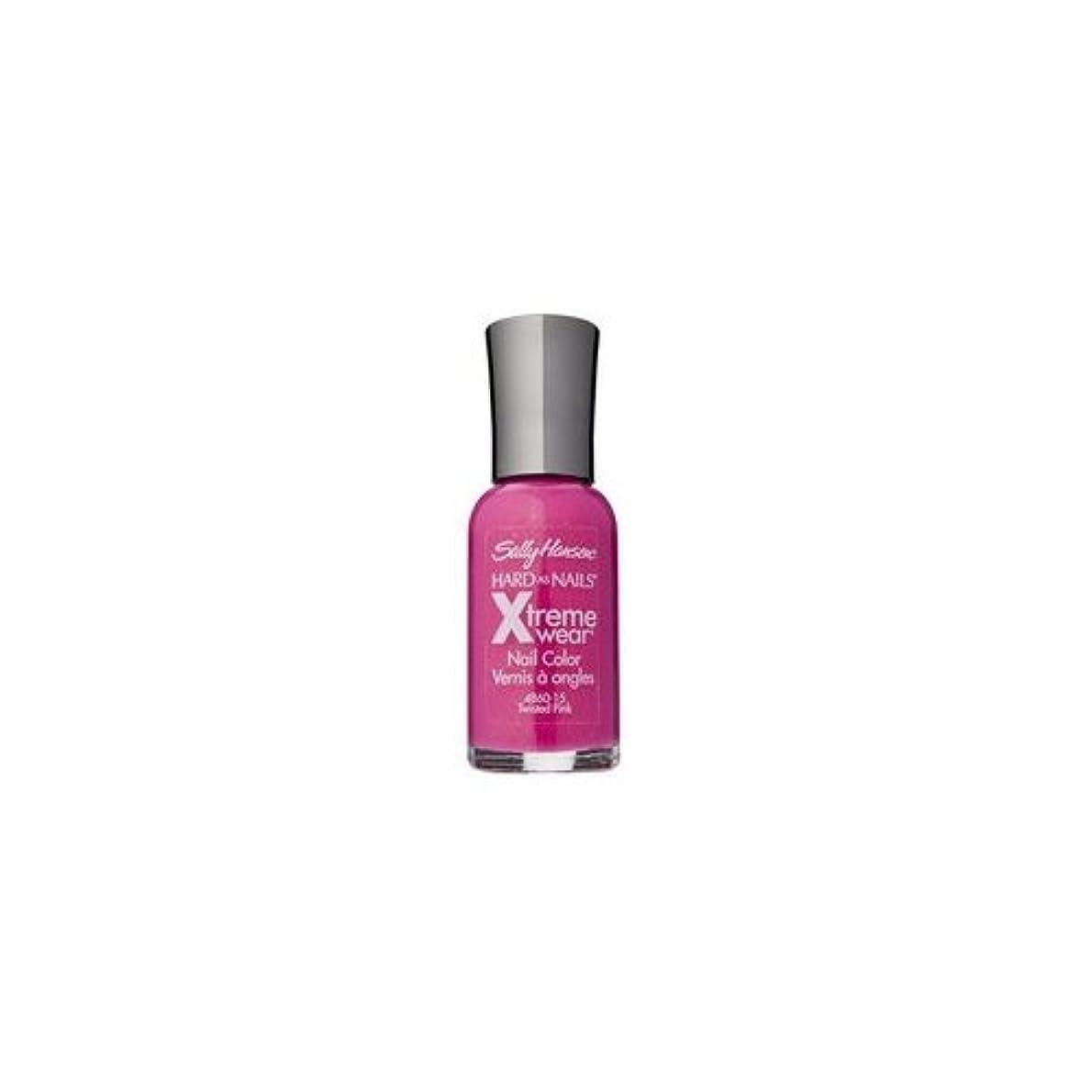 流星曲線論理的に(3 Pack) SALLY HANSEN Hard As Nails Xtreme Wear - Twisted Pink (並行輸入品)