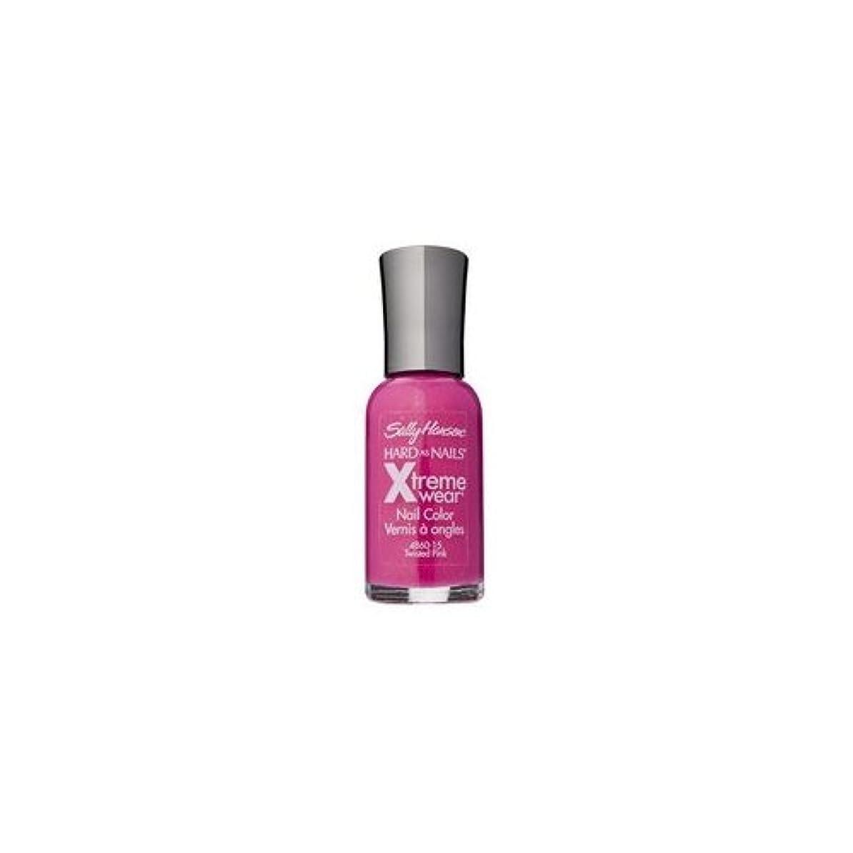 空虚オートメーションあざ(3 Pack) SALLY HANSEN Hard As Nails Xtreme Wear - Twisted Pink (並行輸入品)