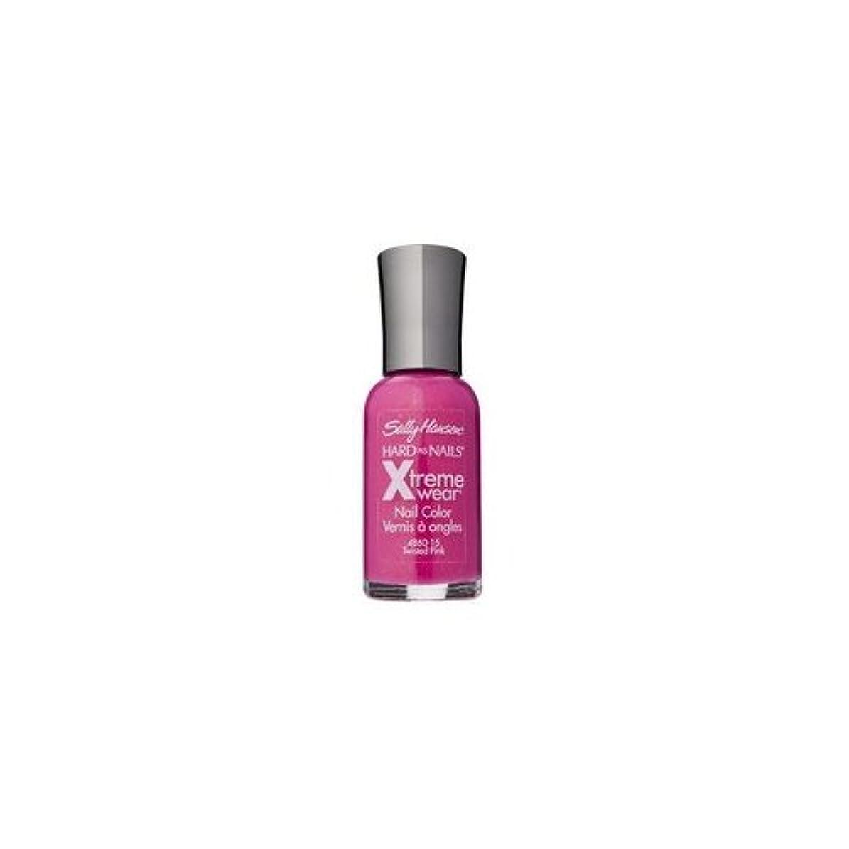 雲ながら金銭的な(3 Pack) SALLY HANSEN Hard As Nails Xtreme Wear - Twisted Pink (並行輸入品)