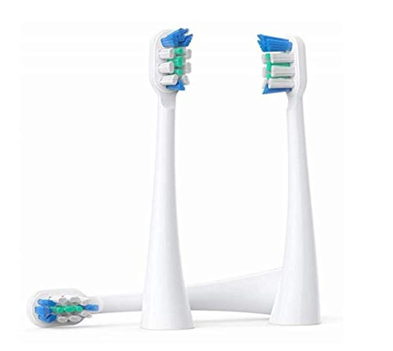 発疹何もない香水交換用ブラシヘッド、パーソナルケア用の口腔歯ブラシをクリーニングするプレミアムクリーンブラシヘッド、3個