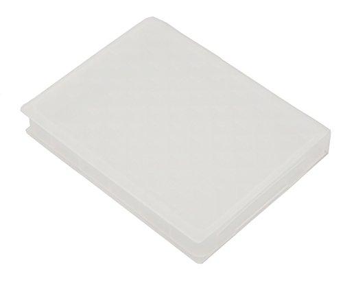 Cyberplugs 2.5 インチ SSD HDD ハードドライブストレージボックス 保護ケース 防塵 抗湿 クリアホワイト