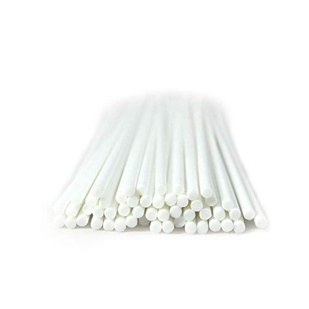 トレイル水を飲むマサッチョ家の芳香のための50本 セット繊維のリードの拡散器の棒 (20cm*3mm, 白)