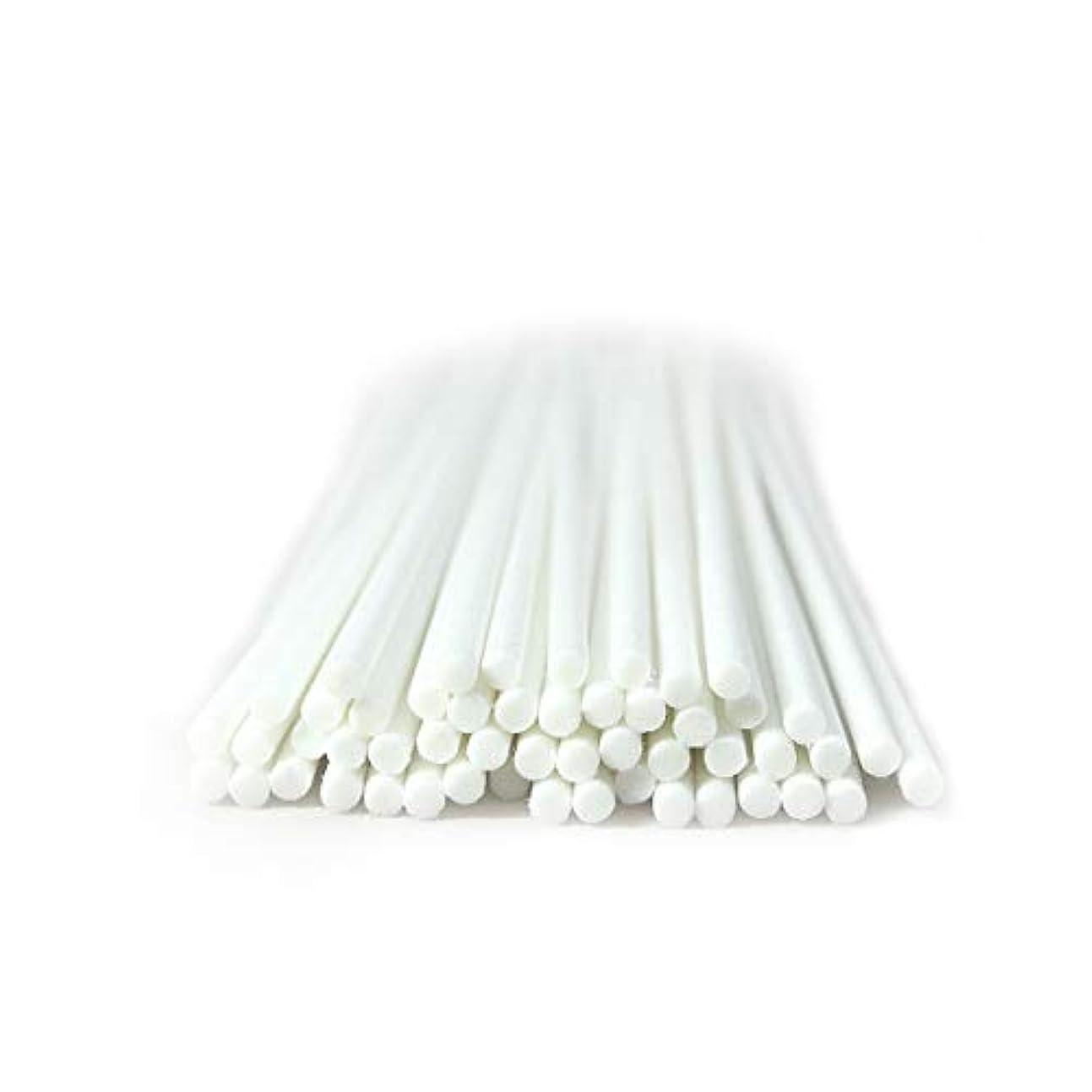 君主制画家飛行機家の芳香のための50本 セット繊維のリードの拡散器の棒 (20cm*3mm, 白)