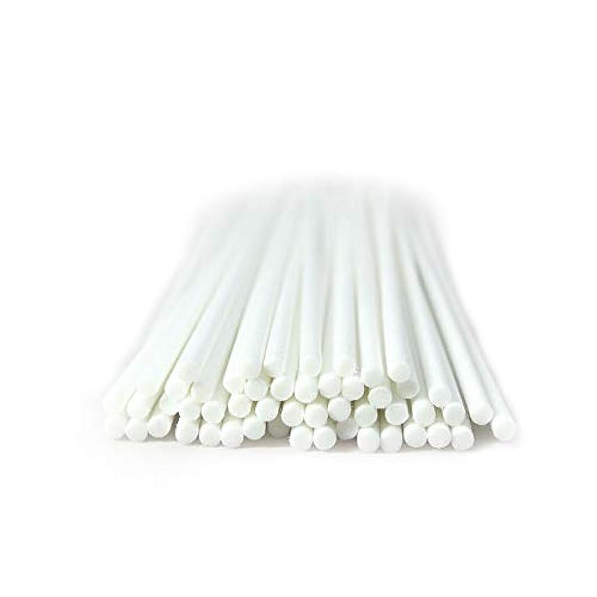 くすぐったい咽頭環境に優しい家の芳香のための50本 セット繊維のリードの拡散器の棒 (20cm*3mm, 白)