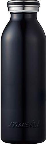 水筒 真空断熱 スクリュー式 マグ ボトル 0.45L ブラック mosh! (モッシュ! ) DMMB450BK