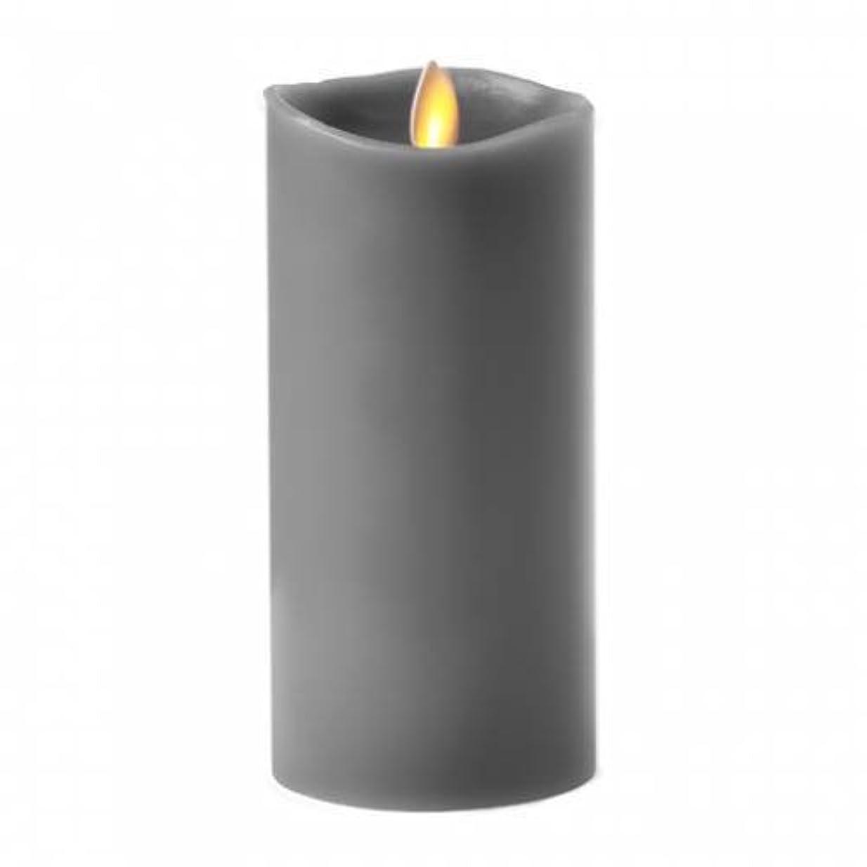 接地病弱区画Luminara 15cm Gravel Grey Pillar Candle