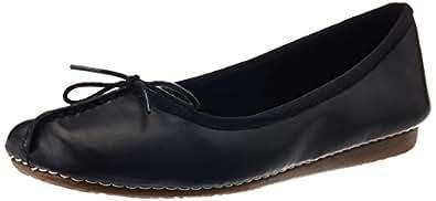 [クラークス] Clarks バレエシューズ Freckle Ice 20352929 Black Leather (ブラックレザー/UK 040)
