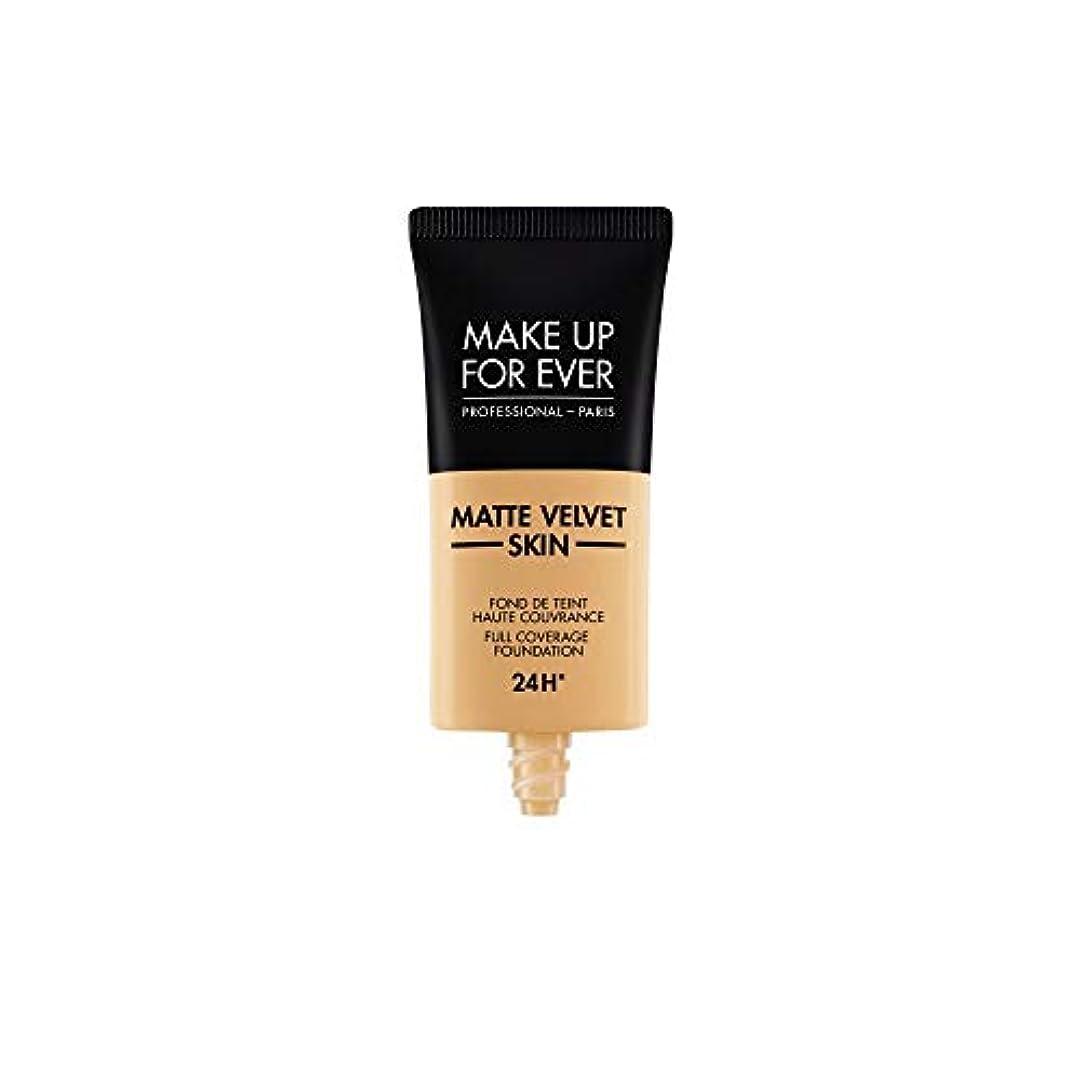 キルト軽く汚染されたメイクアップフォーエバー Matte Velvet Skin Full Coverage Foundation - # Y365 (Desert) 30ml/1oz並行輸入品
