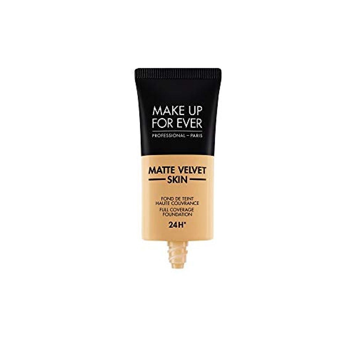 効能オーディション露メイクアップフォーエバー Matte Velvet Skin Full Coverage Foundation - # Y365 (Desert) 30ml/1oz並行輸入品