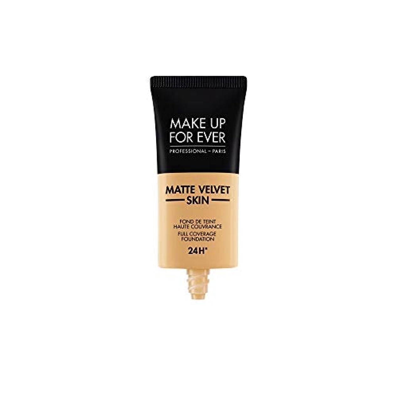 結核矢じりわずかなメイクアップフォーエバー Matte Velvet Skin Full Coverage Foundation - # Y365 (Desert) 30ml/1oz並行輸入品