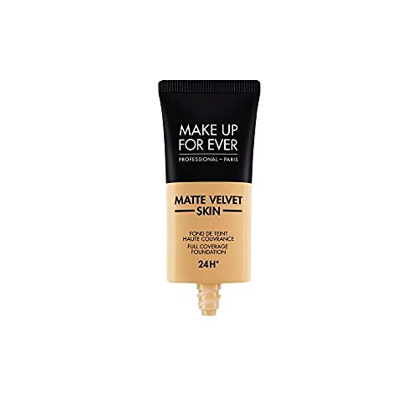 矢印第荒廃するメイクアップフォーエバー Matte Velvet Skin Full Coverage Foundation - # Y365 (Desert) 30ml/1oz並行輸入品