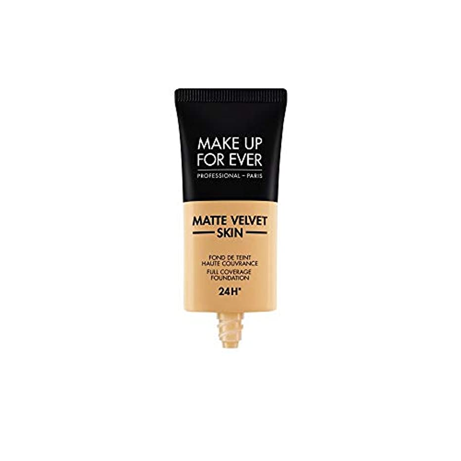 メイクアップフォーエバー Matte Velvet Skin Full Coverage Foundation - # Y365 (Desert) 30ml/1oz並行輸入品