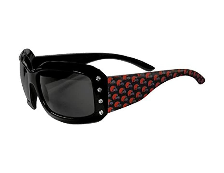 うなるあらゆる種類の意気消沈したSiskiyou Sports FSG025W Browns Designer Sunglasses with Rhinestones