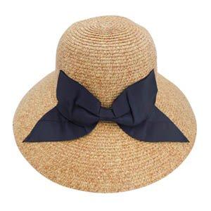 帽子レディース麦わら帽子UV折りたたみ帽子つば広ハット紫外線春夏ストローハットuvカットオシャレつば広帽子大きいサイズ小顔効果日よけ旅行運動会アウトドア女の子折り畳みサイズ調整テープLサイズ(61cm),ベージュミックス×ブラック