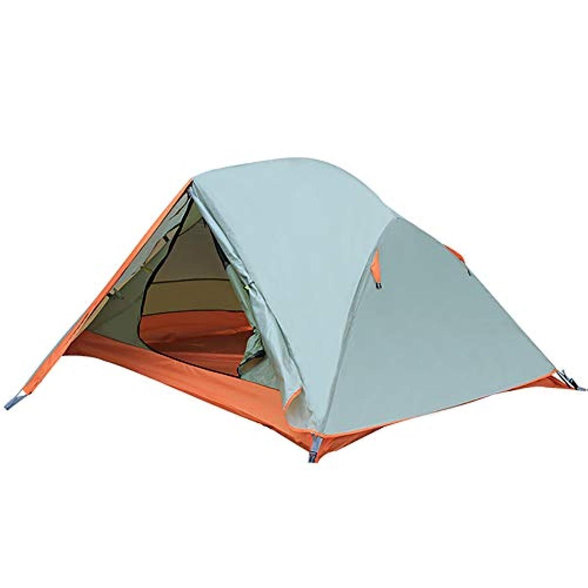 クレタ思いやりのあるアカウントテント屋外ダブルダブルアルミロッドテント野生防風防水防水キャンプキャンプ