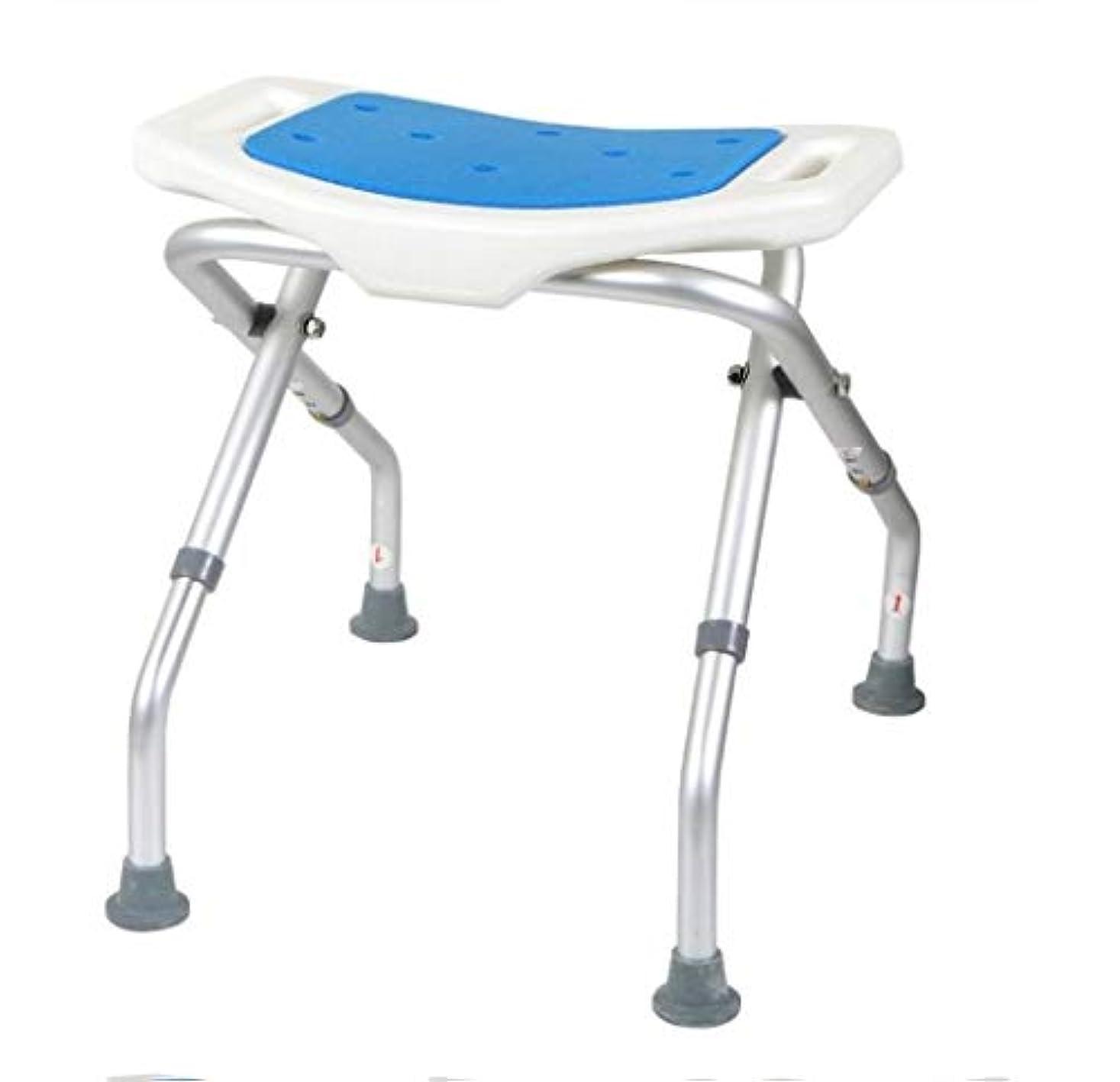潤滑する固めるレザー軽量高さ調節可能なシャワースツール、バスルームシート、シャワーチェア、高齢者用入浴用品、身体障害者用、バスシートベンチ