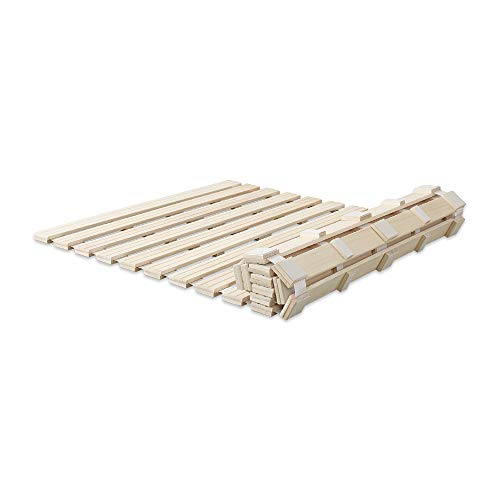 グランデ すのこマット シングル 折りたたみ ロール式 天然木 ベッド ALWR-S