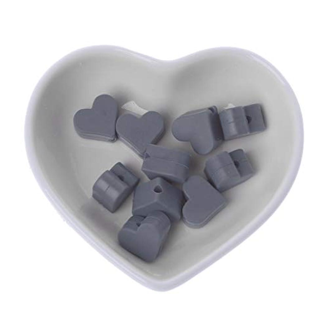 周辺溶ける効果的Landdum 10個シリコーンビーズ愛シリコーンティーザービーズ赤ちゃんのおもちゃdiyおしゃぶりチェーンアクセサリー - ディープピンク
