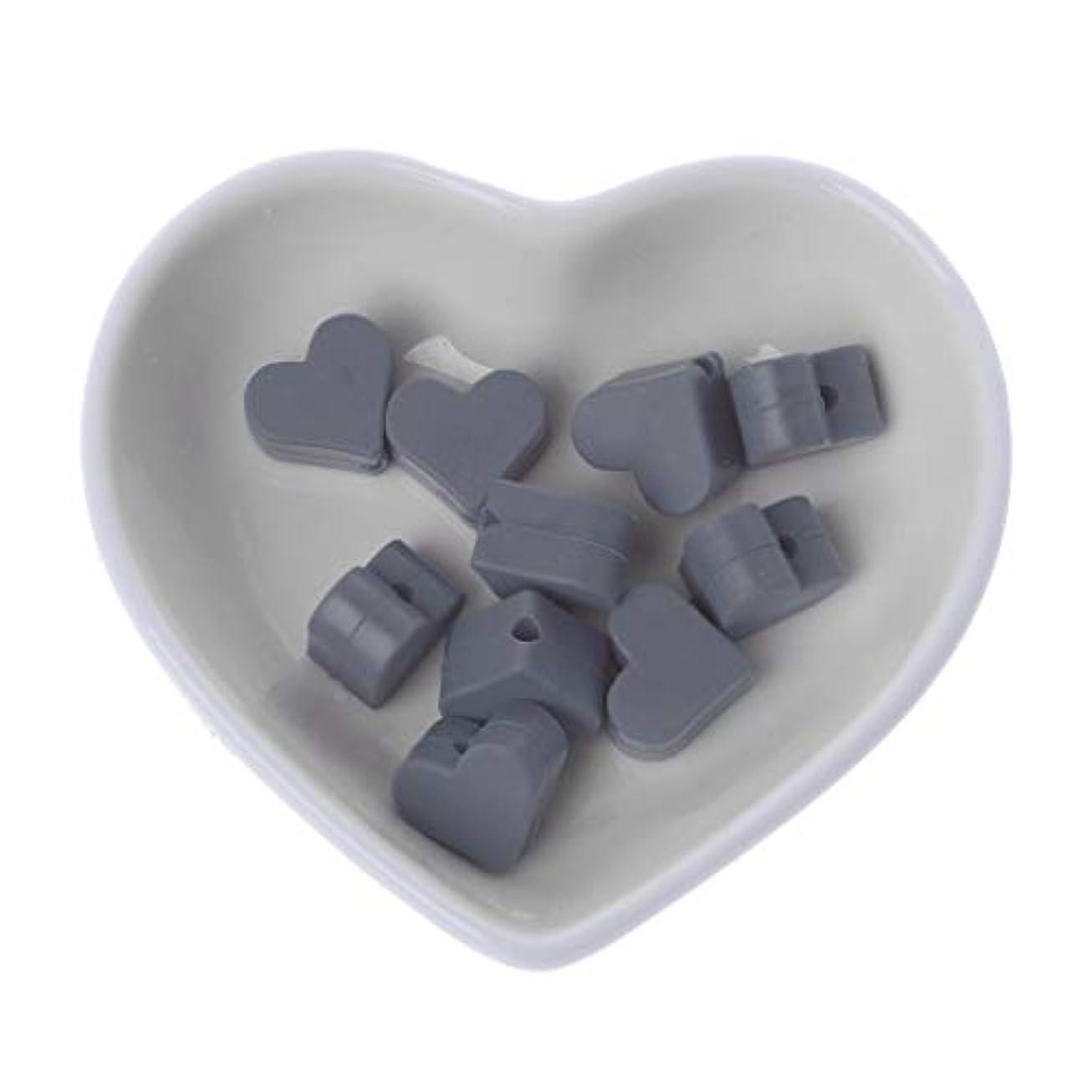請求可能依存する乳白色Landdum 10個シリコーンビーズ愛シリコーンティーザービーズ赤ちゃんのおもちゃdiyおしゃぶりチェーンアクセサリー - ディープピンク