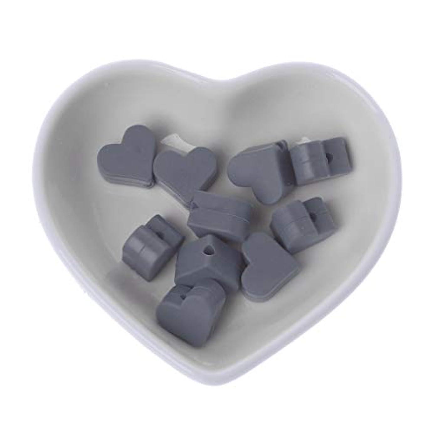 信頼性のある特性流Landdum 10個シリコーンビーズ愛シリコーンティーザービーズ赤ちゃんのおもちゃdiyおしゃぶりチェーンアクセサリー - ディープピンク