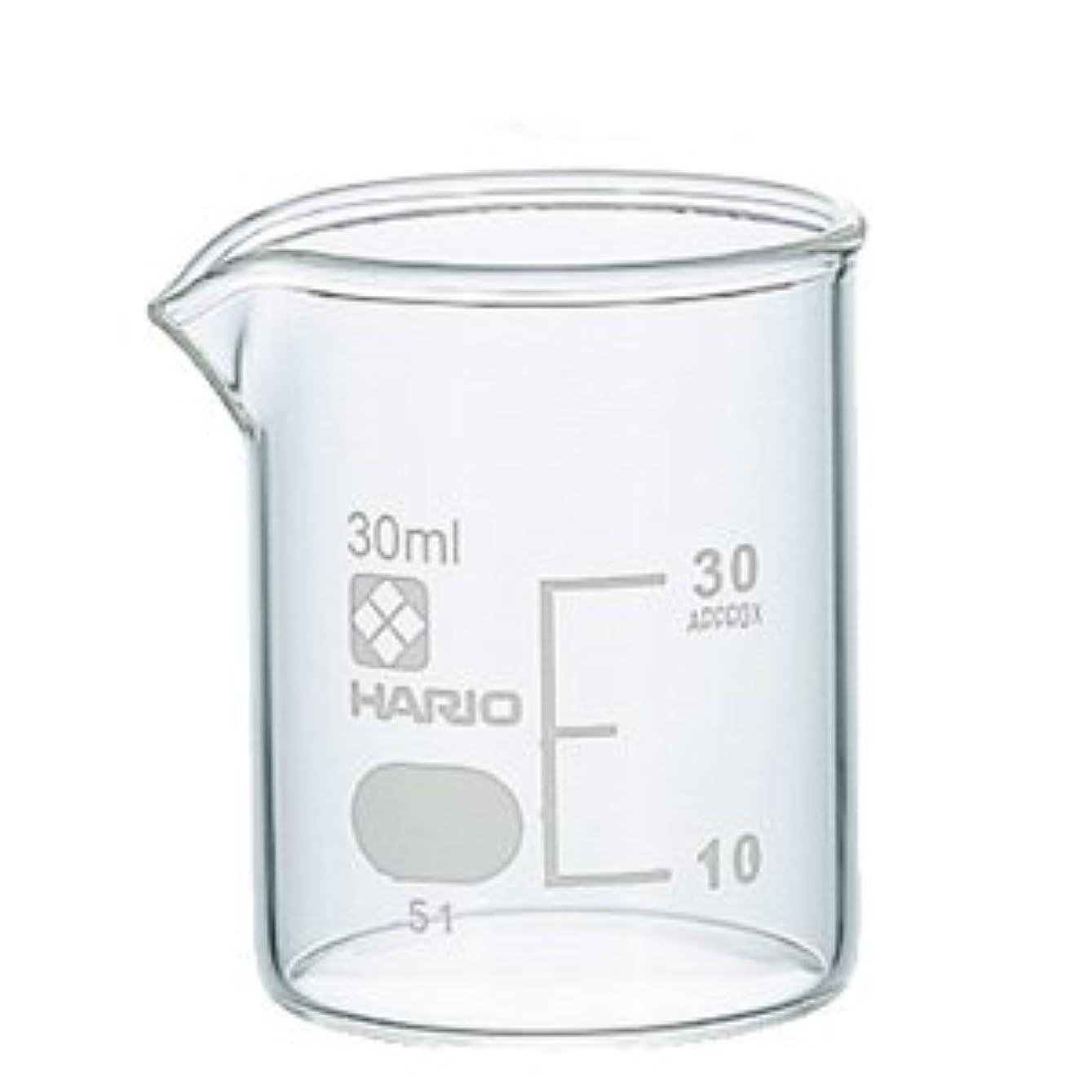 ホスト家庭教師粘着性ガラスビーカー 30ml 【手作り石鹸/手作りコスメ/手作り化粧品】