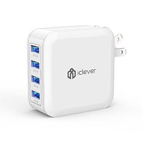 iClever USB充電器 充電器 iPhone Android スマホ 急速充電器 4ポート 40W ACアダプタ 海外対応 IC-TC04