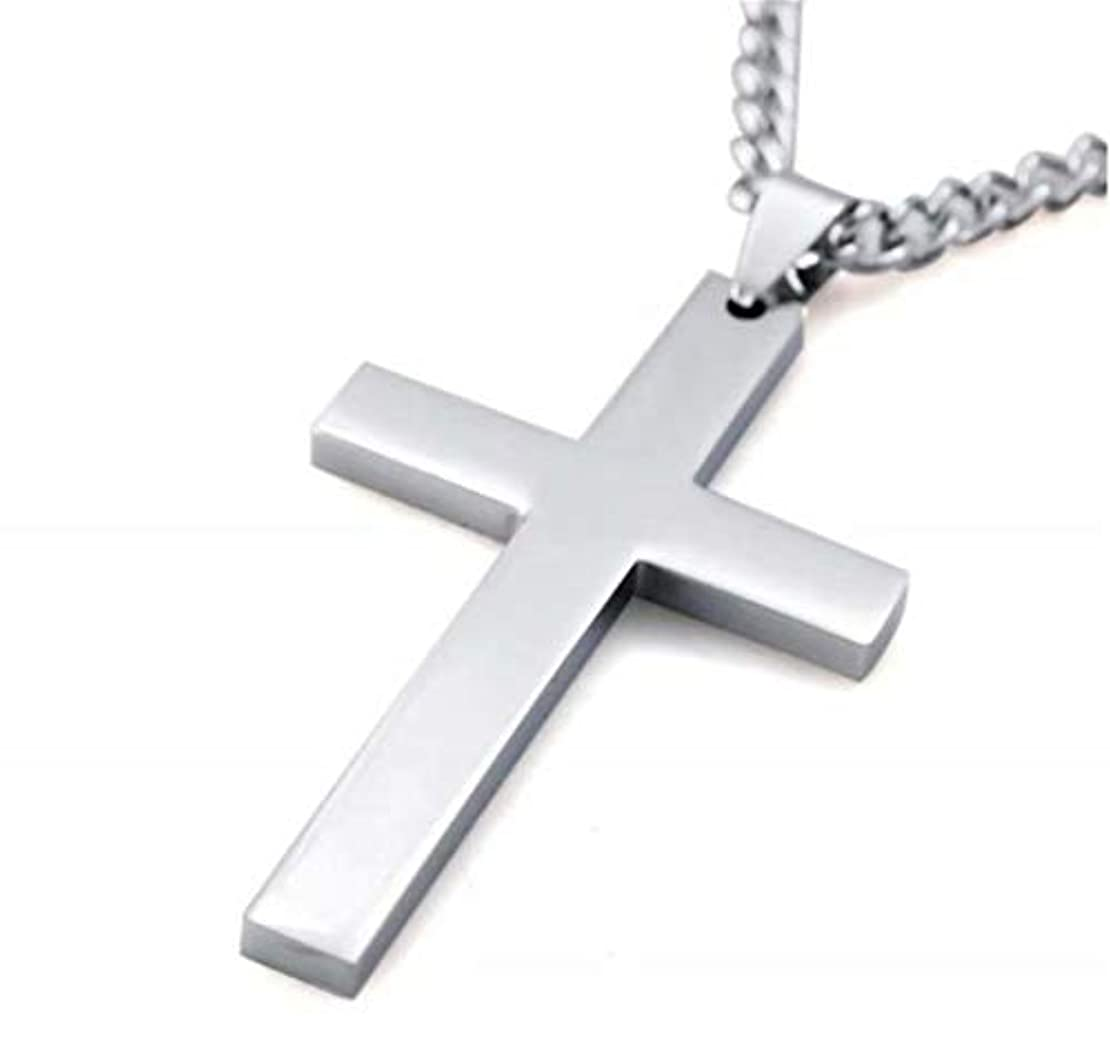 安全性破壊的解任七里の香 メンズ レディース シルバー 十字架 クロス ペンダント ネックレス