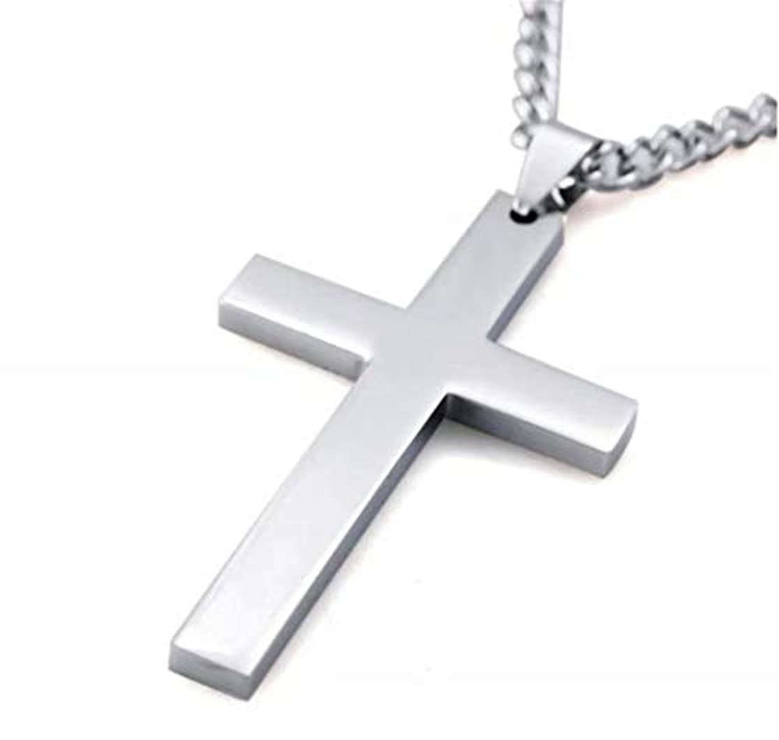 状況スローあごひげ七里の香 メンズ レディース シルバー 十字架 クロス ペンダント ネックレス