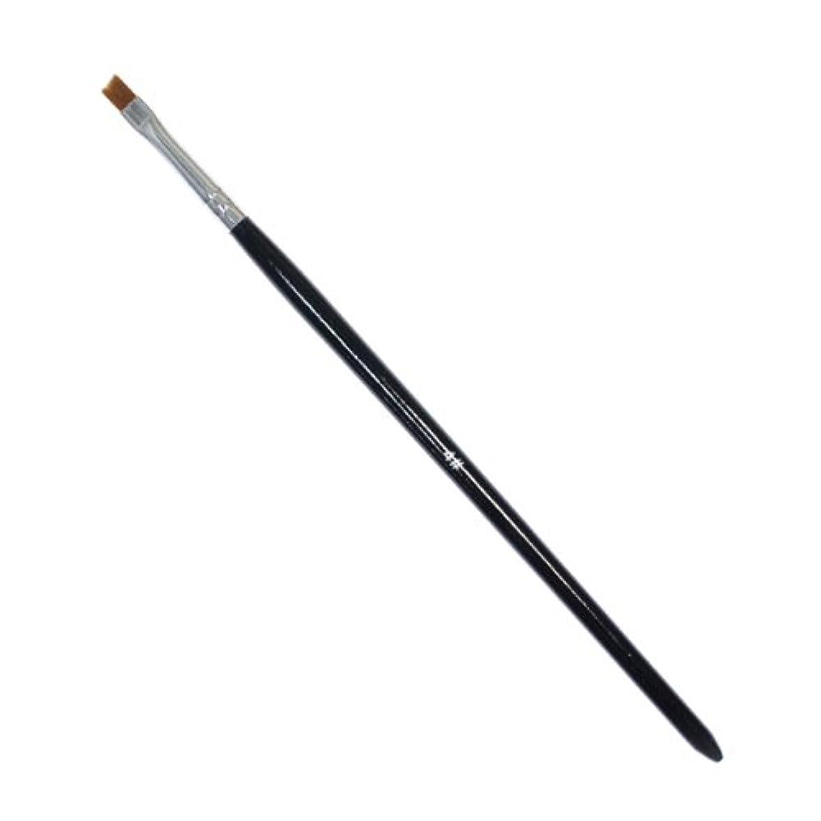 アクセスできない流すサスティーン斜めカットのジェルネイルブラシ#4 ジェル用筆