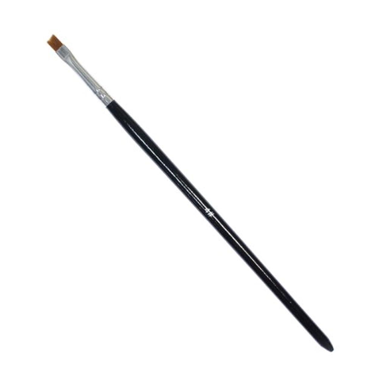 ペルソナ放棄するネブ斜めカットのジェルネイルブラシ#4 ジェル用筆
