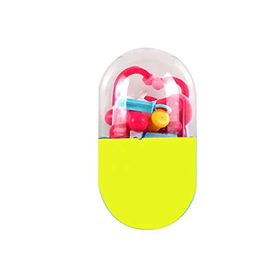 から聞く高度なスマッシュSUGE ままごと お医者さん 遊びごっこセット ドクターのロールプレイ 医者ごっこ遊び お医者さんに変身 知育玩具 子供 プレゼント カプセル収納ケース パーツランダム 20点セット イエロー