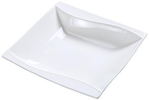 Yanco SW-307 6.5 Grapefruit Bowl Square 10-oz Capacity Porcelain Bone White Pack of 36 [並行輸入品]