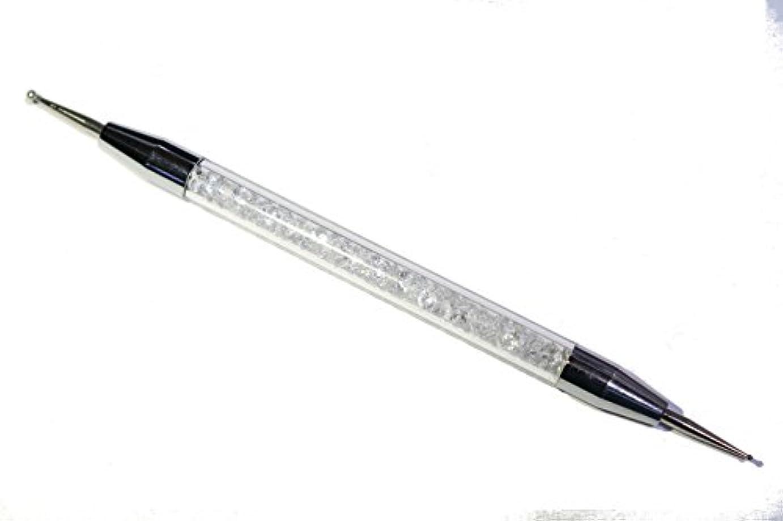 プラットフォーム無実宇宙の【jewel】高品質 水晶入り 2WAY ドットペン ネイルアートに最適
