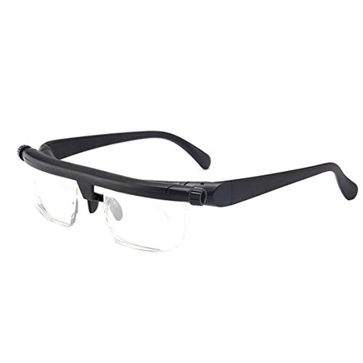 クラブ不和音節Intercorey Tr90焦点距離調整老眼鏡は、-6D?+ 3D度の近視老眼鏡に調整できます。