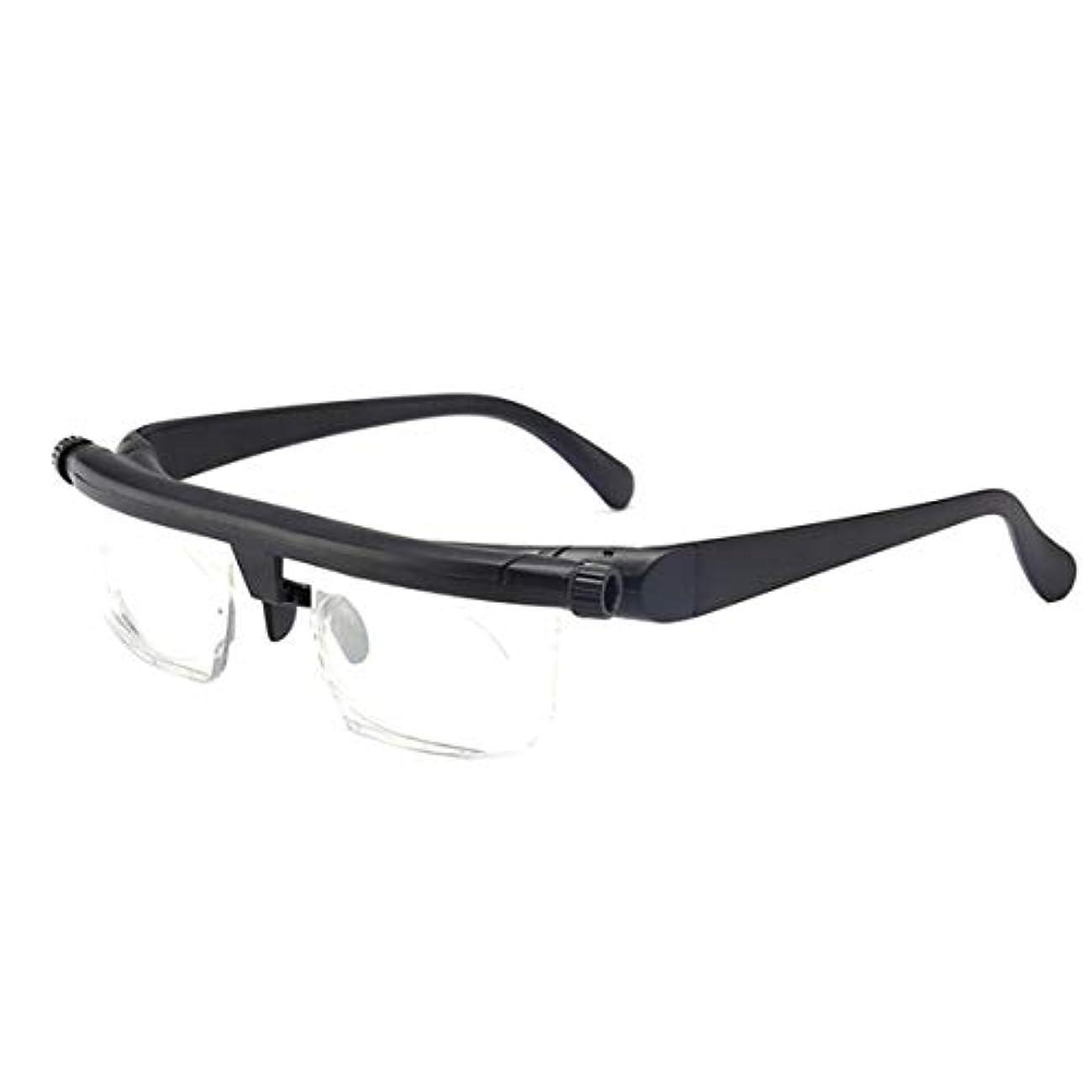 有力者眉ほんのIntercorey Tr90焦点距離調整老眼鏡は、-6D?+ 3D度の近視老眼鏡に調整できます。